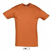 Оранжевые футболки без рисунков однотонные Sols