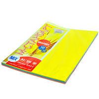 Бумага цветная  М-Стандарт  A4 mix MEGAMIX  10 цветов*25листов,  250листов, 80г  163159
