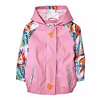 Детский Дождевик полеуретан без утеплителя, Куртка, розовая Грязепруф, Lupilu 110-116