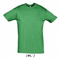 Молодёжная футболка зелёного цвета без рисунка Солс мужская