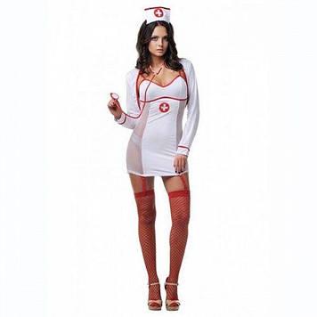 Костюм медсестри білий з боків сітка S/M
