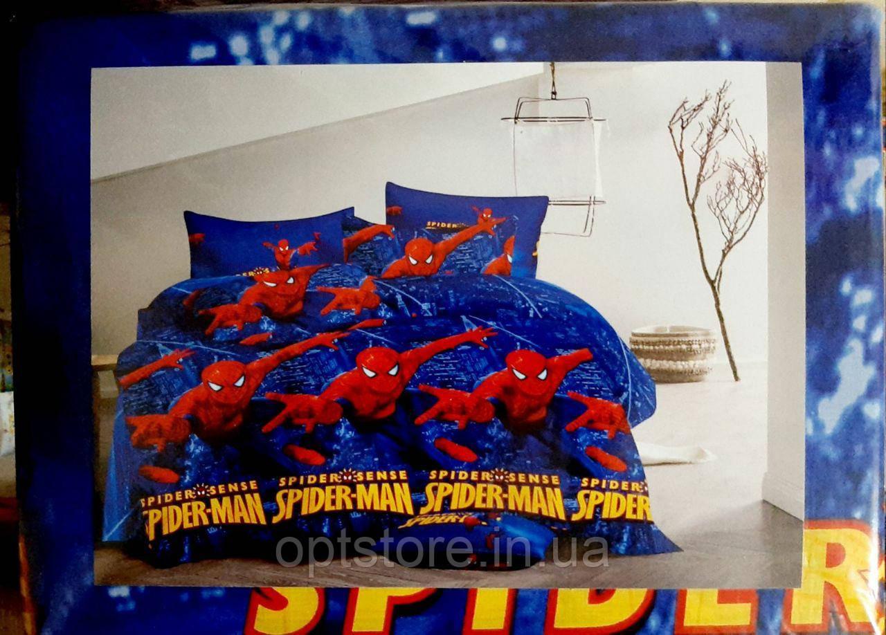 """""""людина павук комплект постільної білизни полуторний 150/220 з дитячим малюнком, тканина сатин 100% бавовна"""