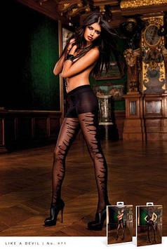 Необычные колготы с принтом Black Jacquard Pantyhose