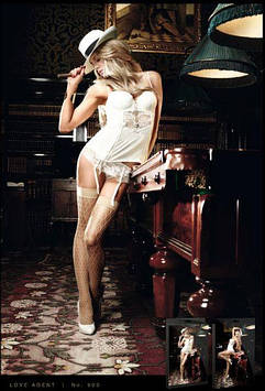 Чулки в сетку с утонченным орнаментом Champagne Filigree Net Stockings