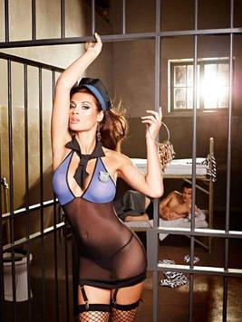 Костюм поліцейського 6-piece Blue-black police dress, M/L