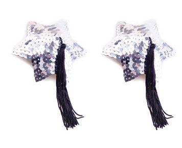 Пестис Silver Star Shape Sequin Pasties 8cm