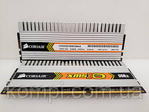 Оперативная память  Corsair 4Gb(KIT 2x2GB) DDR3 PC3-12800 CL-9 !!!!  б/у