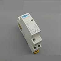 Модульный контактор 25 Ампер 2х-контактный  220 Вольт на Din-рейку