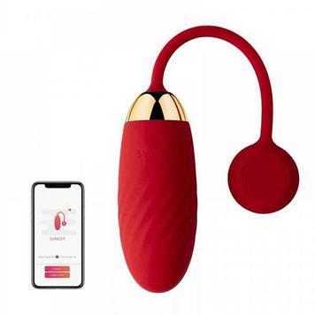 Виброяйцо Svakom Ella Red с функцией управления смартфоном