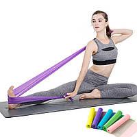 Резинка для фитнеса и спорта (лента эспандер) эластичная 1.5м Profi, фиолетовый (MS 1059)