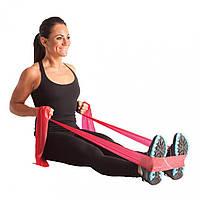 Резинка для фитнеса и спорта (лента эспандер) эластичная 1.5м Profi, розовый (MS 1059)