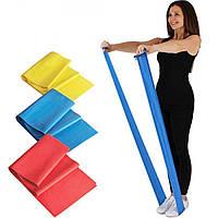 Резинка для фитнеса и спорта (лента эспандер) эластичная 1.5м Profi, синий (MS 1059)