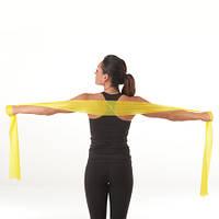 Резинка для фитнеса и спорта (лента эспандер) эластичная 1.5м Profi, желтый (MS 1059)