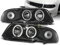 Audi a4 b5 фары передние тюнинг ауди а4 б5 tuning оптика фонари abt s s4 turbo 1.8 абт турбо