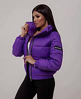 Трендовая женская дутая куртка на силиконе в расцветках (Норма), фото 4
