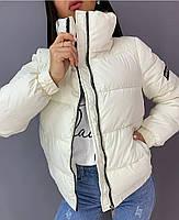 Трендовая женская дутая куртка на силиконе в расцветках (Норма), фото 5