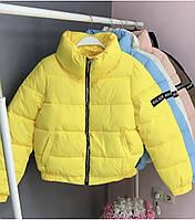 Трендовая женская дутая куртка на силиконе в расцветках (Норма), фото 9