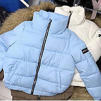 Трендовая женская дутая куртка на силиконе в расцветках (Норма), фото 10