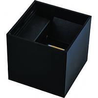 Настінний світлодіодний світильник Feron DH013 для підсвічування фасадів чорний