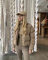 Дуже гарна жіноча дута куртка на синтепоні (Норма), фото 5