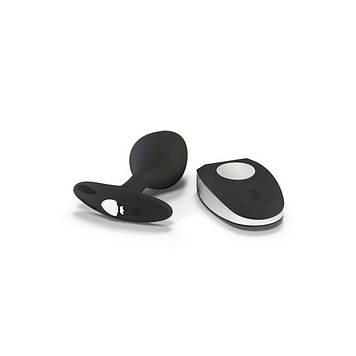 Силиконовая анальная пробка Mystim Rocking Vibe с вибрацией и пультом для электростимулятора, 3,7 см
