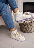 🔥 Кроссовки женские Nike Air Force High Utility найк эир форс бежевые повседневные спортивные кожаные высокие, фото 10