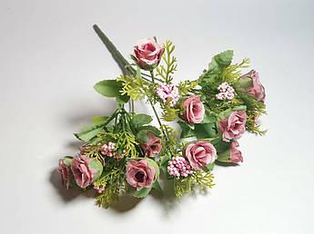 Искусственные цветы. Букет мелких роз, пепел розы.