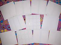 Набор 11 трафаретов для декора и дизайна ногтей, трафарет на клейкий основе для лака и гель лака.