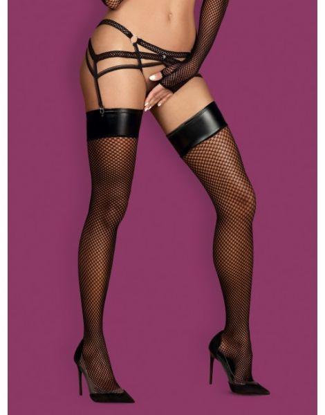 Панчохи сітка Obsessive Darkie stockings black S/M