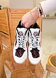 🔥 Кроссовки женские Fendi фенди белые повседневные спортивные кожаные, фото 3