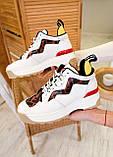 🔥 Кроссовки женские Fendi фенди белые повседневные спортивные кожаные, фото 8