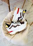 🔥 Кроссовки женские Fendi фенди белые повседневные спортивные кожаные, фото 5