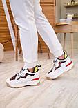 🔥 Кроссовки женские Fendi фенди белые повседневные спортивные кожаные, фото 9