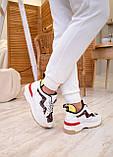 🔥 Кроссовки женские Fendi фенди белые повседневные спортивные кожаные, фото 10