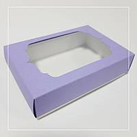 Коробочка для подарков лавандовая с  окном  130х90х35 мм.