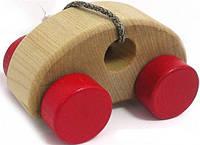 Мини машинка деревянная Cubika для самых маленьких!