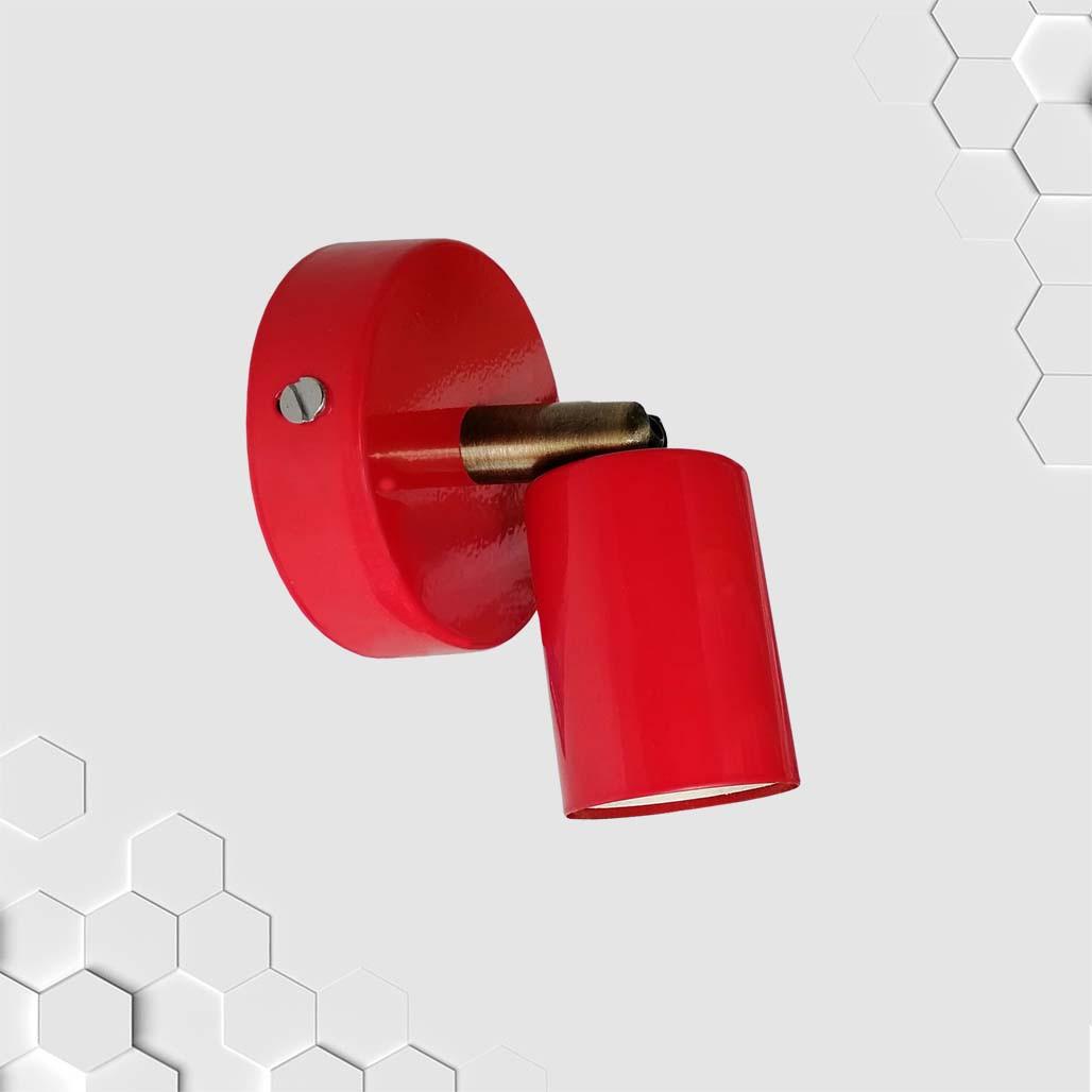 Спот поворотный на 1-лампу SLEEVE  E27  красный