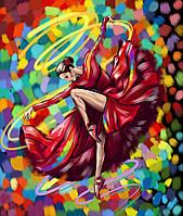 """Картина по номерам. """"Яркий танец"""" 40*50см. KpN-01-05U"""