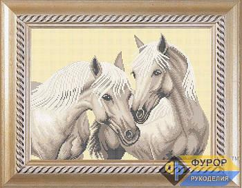 Схема для вышивки бисером картины Пара лошадей (ЖБп3-016-1)
