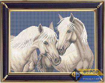Схема для вышивки бисером картины Пара лошадей (ЖБп3-016-2)