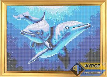 Схема для вышивки бисером картины Дельфины (ЖБп3-022)