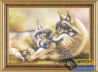 Схема для вышивки бисером - Пара волков, Арт. ЖБч3-029