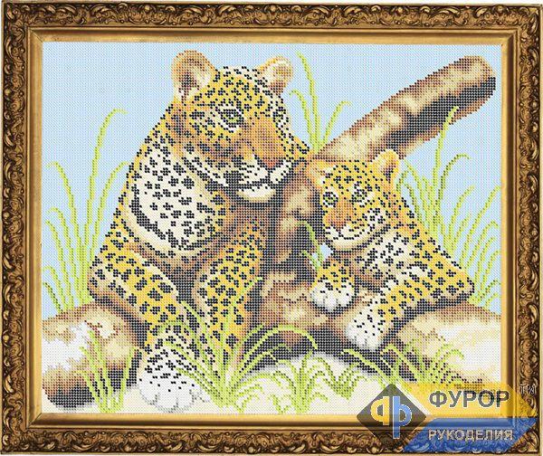 Схема для вышивки бисером картины Леопарды (ЖБп3-036)