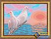 Схема для вышивки бисером - Голуби на закате, Арт. ЖБп3-041