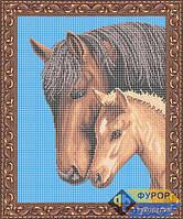 Схема для вышивки бисером - Лошадь с жеребенком, Арт. ЖБп3-43-1