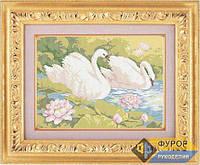 Схема для полной вышивки бисером - Пара лебедей, Арт. ЖБп3-5