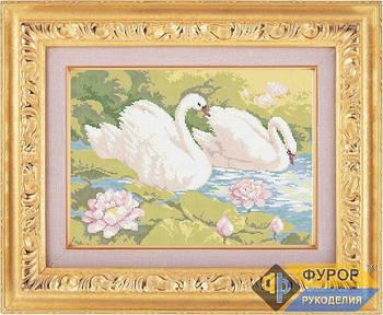 Схема для вышивки бисером картины Пара лебедей (ЖБп3-005)