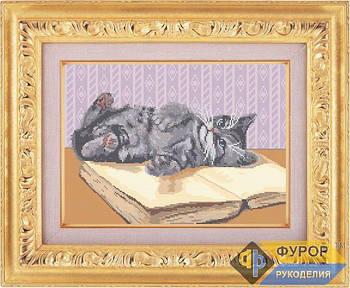 Схема для вышивки бисером картины Игривый котенок (ЖБп3-007-1)