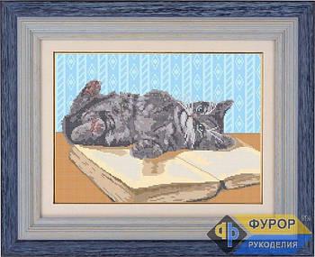 Схема для вышивки бисером картины Игривый котенок (ЖБп3-007-2)