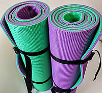 Двухслойный универсальный коврик 10мм 180 * 60 см (коврик) для занятий туризмом и спортом